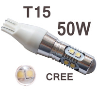2pcs/lot super brightness T15 50W cree XBD,921 LED BULB,W16W LED CAR LAMP,HIGH POWER T15 LED #v