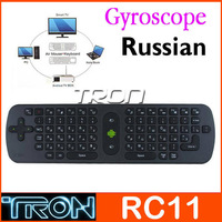 Russian Langauge Measy RC11 Air Fly Mouse Remote Control MINI Keyboard For Android TV Box TV Dongle2.4G Wireless Full Function