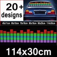 114 *30 cm Colourful Flash Car Sticker Music Rhythm LED EL Sheet Light Lamp Sound Music Activated Equalizer car Stickers  #v