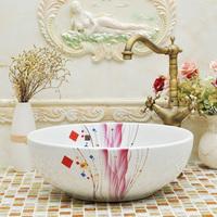 American basin rustic art wash basin wash basin counter basin mdash . multicolour