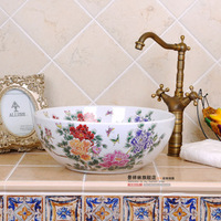 American basin rustic art basin counter basin wash basin mdash . colorful all white