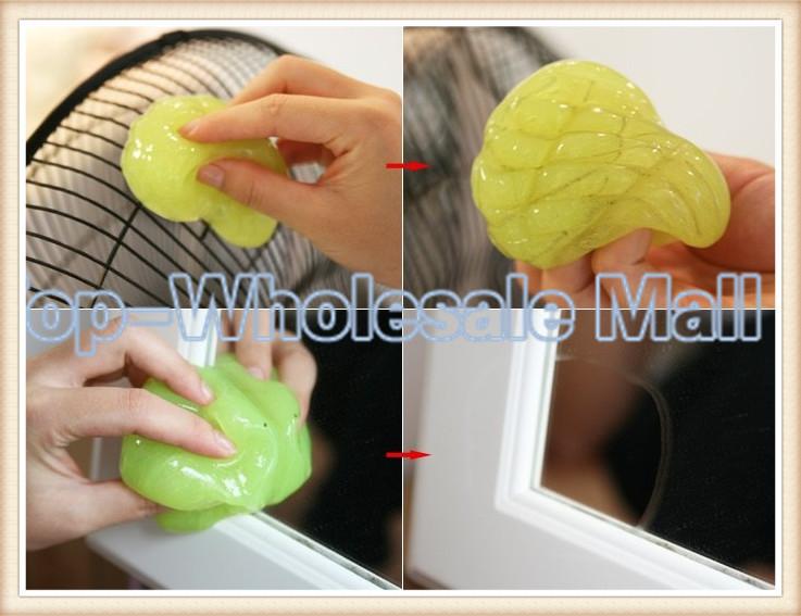 2014 brand new Creative keyboard cleaning Soft Mody Car clean Gel use for car /key board / dust killer(China (Mainland))