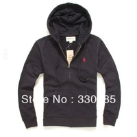 Free Shipping 2014 Hot embroidered hooded cardigan men sweater M XXL