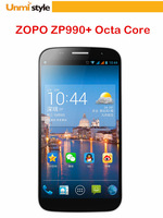 New 2014 Original ZOPO ZP990 plus Octa Core Phone FHD Screen MTK6592 1.7GHz 2GB RAM 32GB ROM OTA OTG  Phone Pad free shipping