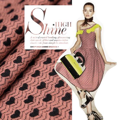 France style rose jacquard tissu de laine de laine de mode en tissu