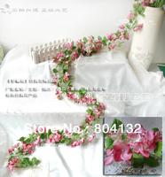 3pcs 2.2m Romatic Silk Artificial Hydrangea Flower Garlands Vines for Wedding Christmas Decoration Vine