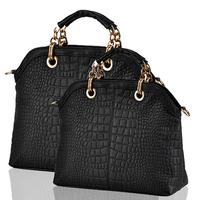 2014 New Style fashion Popular women's handbag crocodile pattern big bags female fashion handbags messenger bag women totes