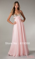 Free Shipping Sexy A-Line Beaded Bust Open Back Sweetheart Floor Length Formal Long Prom Dress With Side Cut Outs 2014 FL-P2811