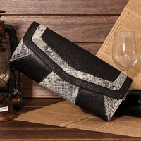 Fashion cowhide day clutch serpentine pattern clutch bag 2013 women's genuine leather evening bag shoulder handbag women's one