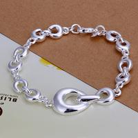 2014 Hot sale H292  Wholesale 925 silver bracelet, 925 silver fashion jewelry round charm bracelet  best gift