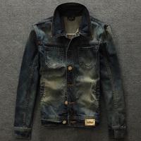 Denim outerwear male thickening wool male denim jacket reminisced jacket autumn and winter outerwear
