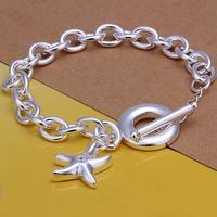2014 Hot sale H286  Wholesale 925 silver bracelet, 925 silver fashion jewelry sea star charm bracelet  best gift