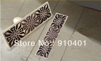 """Free Shipping Wholesale And Retail Promotion Luxury 11"""" Length Antique Brass Floor Drainer Square Shower Grate Waste Drainer"""