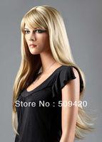 Free Shipping>>>Ladies Long Blonde Wig Light Ash Blonde Mix Amazing