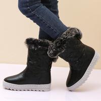 2013 autumn and winter children shoes fashion female child medium-leg boots patent leather boots child parent-child boots martin