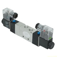 """New Pneumatic AC 110V 1/4"""" 5 way 3 position Midst Electrical Solenoid Valve Air (RA19)"""