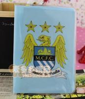 free shipping Manchester city football cartoon passport cover passport bag pvc card holder card case