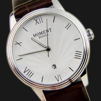 2014 Monent Fashion Leather Strap Watch Sun Pattern Needle Belt Calendar Multifunctional Business Mens Watch Women Dress Watches