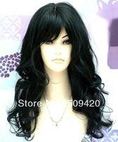 Free Shipping>>> Ladies Long Wavy Jet Black Wig! Fashion Wigs
