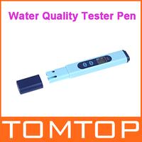 Digital LCD EC Conductivity Meter Water Quality Tester Pen 0-9999 Blue