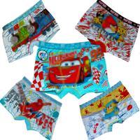 2015 New Stock Fashion Children Underwear 100% Cotton Fit 3-9 Age Kids Baby Cartoon Panties Free Shipping