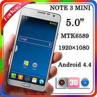 2014 New Arrvial Mini Note3 Android4.4 Quad Core MTK6589 mini N9000 Phone 5.0inch 1920*1080 1GB RAM 16GB Rom 8MP With Gifts
