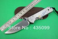 NEW Chris Reeve Knife F86 D2 Blade Sebenza 21 Style Full TC4 TITANIUM Handle Camping Knife Folding Knife 9Cr13Mov