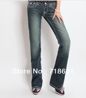 Free shipping new high-quality women's sexy hip American brand fashion jeans Micro Flare Jeans trousers t - rue