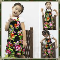 Aprons set clothing aprons japanese style beautiful aprons black-matrix cotton prints child apron