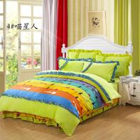 Bed princess FL velvet coral fleece piece set thickening thermal bedding kit bed sheets duvet cover