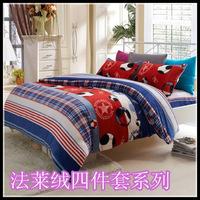 Goatswool FL piece bedding set pillow short plush coral fleece sheets fitted kit mm bedding