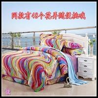 100% bedding cotton bed sheets slanting stripe bedding duvet cover cotton sanded 100% four piece set