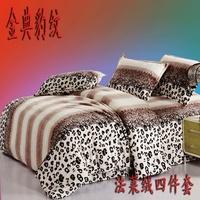 Blanket piece set coral fleece wedding bedding piece set princess kit bed sheets duvet cover moon and stars