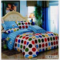 Double 12 full cotton bedding 100% four piece set 12868 bedrug kit pillow