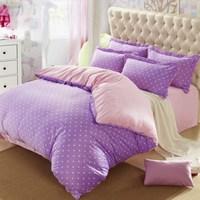 Velvet piece set polka dot thickening flannel sheets duvet cover blanket bedding