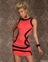 N107 New Arrival Women's Stripe Sexy Club Dress with round neck, Fashion Nightclub Dress, Bar Dress