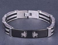 Fine Quality Men & Women Stainless Steel Bracelet Sagittarius Chain Bracelet Free Shipping