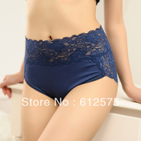 LL0017 5pcs/lot Plus size lace modal seamless sexy panty female slim high waist hip briefs underwear