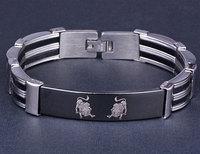 Chic Women's Stainless Steel Bracelet Men's Leo Bracelet Free Shipping