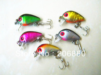 HOT! 10pcs Fishing Lures crankbait fishing tackle 3CM-1.5G-10# HOOK plastic pesca fishing artificial fish Lure crank bait