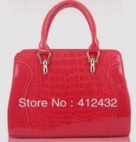 2013 autumn and winter women's crocodile pattern handbag fashion vintage shoulder bag messenger bag handbag free shipping P11