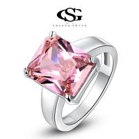 G&S Valentine's day Gift swiss CZ Platinum plating luxury love pink ring arrow heart cuting Full set jewelry 1010011447