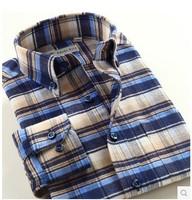 New 2013 Autumn-Summer Long Sleeve Cotton Casual Shirt Men Slim fit  Plaid Shirts