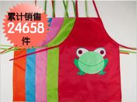 Child apron painting baby clothing eating bib waterproof  cartoon apron baby pinafore