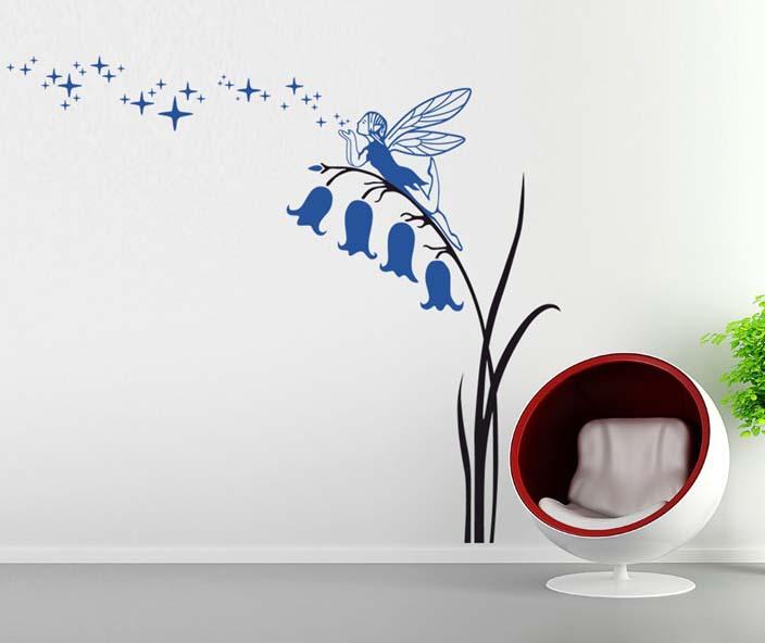 Fairy Angel girl Wall Stickers Kids Nursery Vinyl Decals wall sticker ...