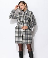 Autumn fashion formal slim ol women's wool coat outerwear plaid