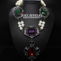 JOEY.New Arrival Luxury Baroque Pearl Necklace Crystal Statement Necklace Chokers Women Necklaces & pendants Free Shipping