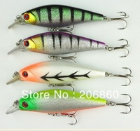 8PCS/LOT, Minow Fishing Lures 10.3G-8.8CM-6# Hook fishing tackle fish bait artificial plastic lure swimbait octopus Free ship