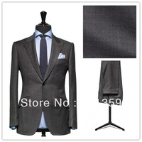 High quality Dark Gray custom Made business mens suits design male suits (Jacket+Pants+Tie+Vest) TX131 men three piece suits