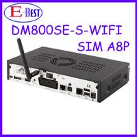 Fedex free shipping Satellite TV Receiver dm 800 hd se wifi internal SIM A8P Card Linux OS dm800se a8p bcm4505 tuner